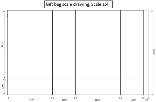 make a template using microsoft word save as gift bag